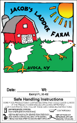 Jacob's Ladder Farm Label