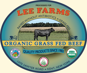 Lee Farms Organic Beef Label