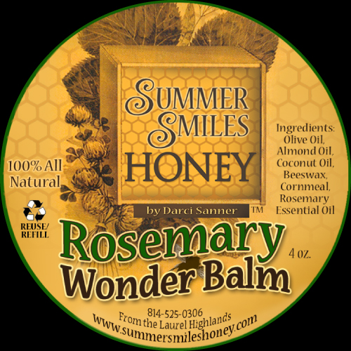 Summer Smiles Rosemary Wonder Balm Label