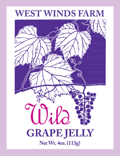 Wild Winds Grape Jelly Labels