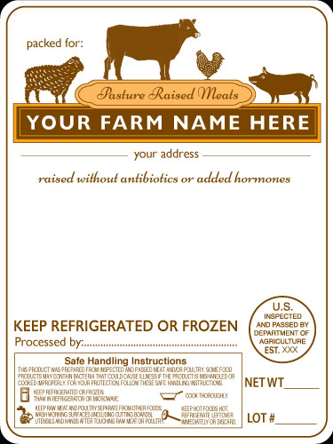 Meat-1 Label Design for Purchase Pasture Raised Meats
