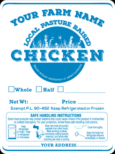 Poultry-1 Local Pasture Raised Chicken Labels